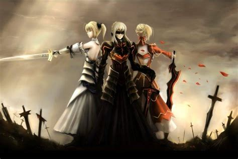anime anime girls fate series saber alter saber lily