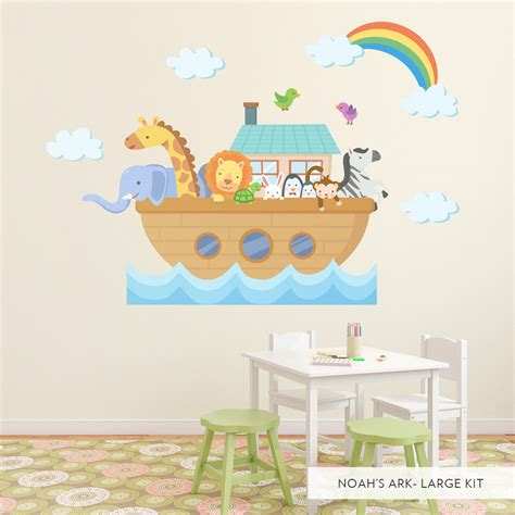 themed bathroom ideas noah 39 s ark wall decal wall stickers for children 39 s nursery