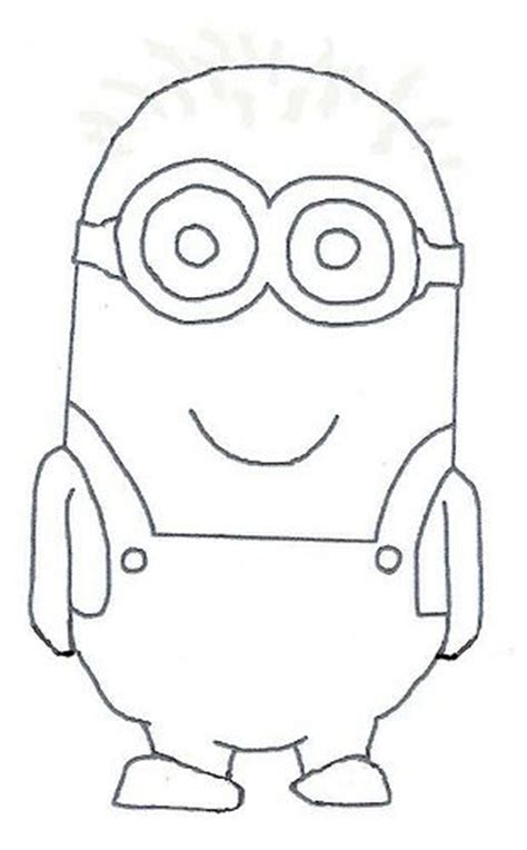 minion template minions minion template and drawing lessons on
