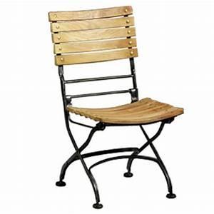 Chaise Fer Forgé : chaise jardin bois fer ~ Teatrodelosmanantiales.com Idées de Décoration