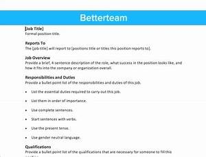 Free job description template fast simple copy paste for Samples of job descriptions templates