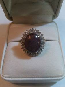 Quality Ring With 1 Ruby 13 27 Cts An 60 Sapphires