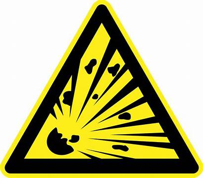 Warning Explosive Signs Explosion Symbol Material Risk