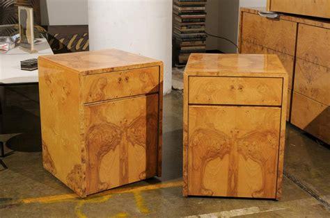 milo baughman burl wood suite for sale at 1stdibs