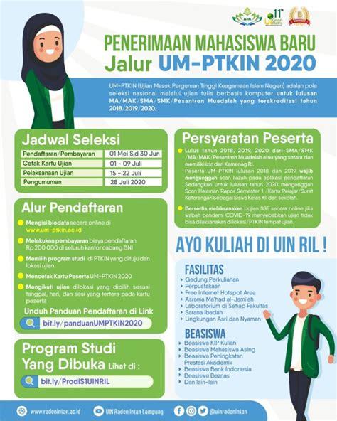 Informasi ini bagi calon mahasiswa yang ingin masuk kampus islam negeri. Panduan Pendaftaran UMPTKIN 2020 - Universitas Islam ...