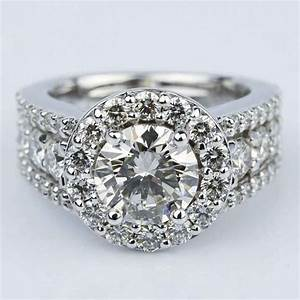 diamond color clarity chart halo three row diamond engagement ring 2 carat
