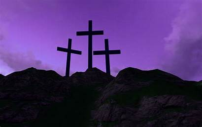 Easter Crosses Mountain Background Three Wallpapers Fg