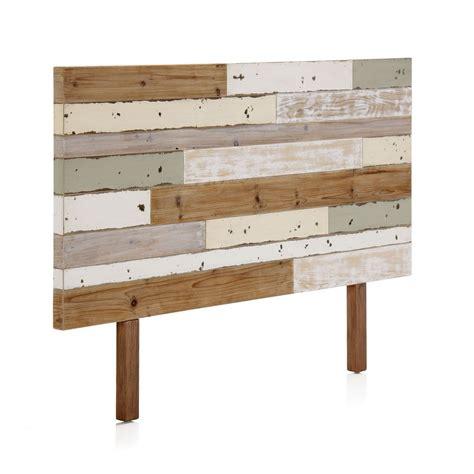 alinea chambre tête de lit en bois coloré recyclé the déco