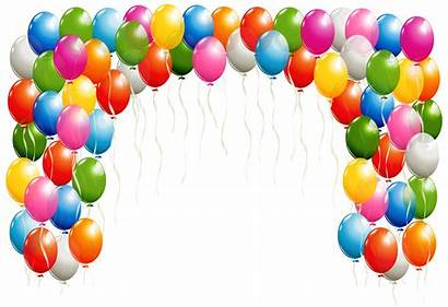Balloons Transparent Clipart Arch Yopriceville