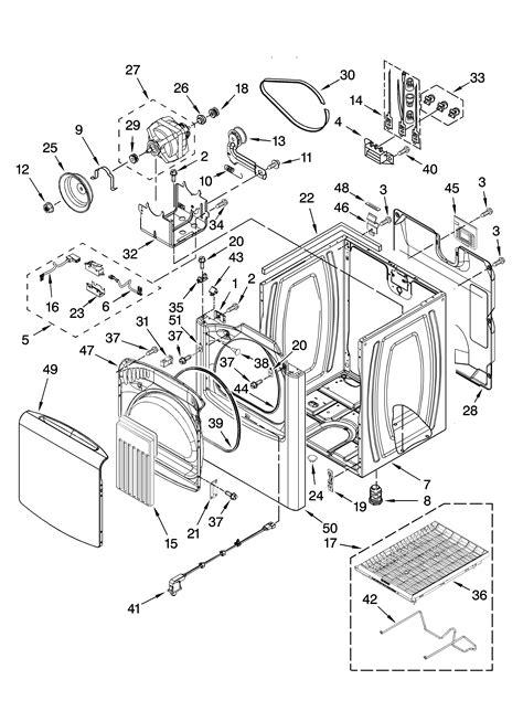 kenmore elite residential dryer parts model