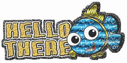 Hello Hi Glitter Animated There Graphics Desicomments