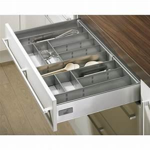 Tiroir De Cuisine : range couverts gris innoplus pour tiroir de cuisine innotech bricozor ~ Teatrodelosmanantiales.com Idées de Décoration
