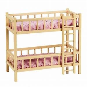 Lit Poupee En Bois : lits superpos s avec chelle goki la f e du jouet achat vente de jouets pour enfants ~ Teatrodelosmanantiales.com Idées de Décoration
