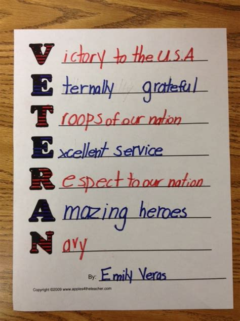Veteran Acrostic Poems 2