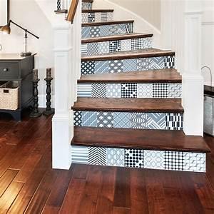 Escalier Carreaux De Ciment : stickers escalier carreaux de ciment ulrika x 2 ambiance ~ Dailycaller-alerts.com Idées de Décoration