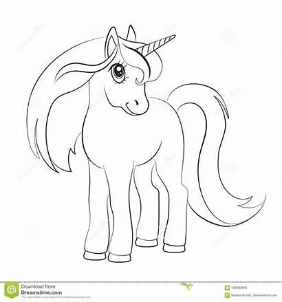 Unicorn Sketch Coloring Background Dot Cartoon Vector