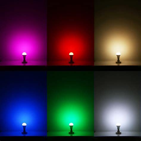 Led Colour Changing Light Bulb Multicolour Lighting