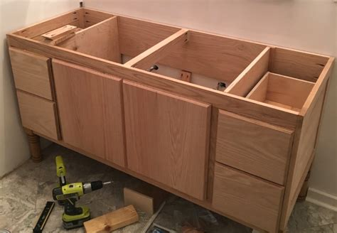 building a diy bathroom vanity part 5 cabinet doors