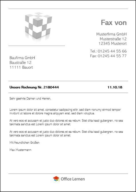 word faxvorlagen zum herunterladen
