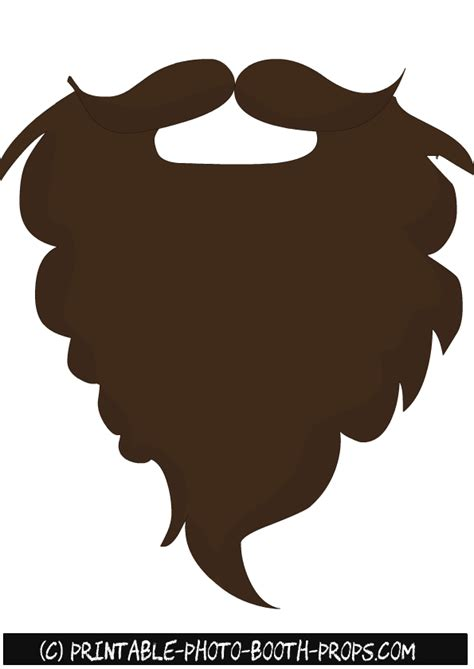 beard clipart brown beard  clipart