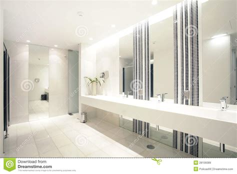 Luxury Modern Bathroom Suite With Bath And Wc Stock Image