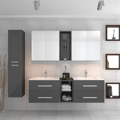 Bathroom Mirror Units by Buy Sonix Grey Bathroom Suite 2 Units 2 Mirrors And Storage