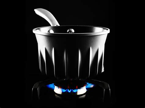 water saucepan pot jet pan rocket designs engineer kitchen science stove boils boil pots fins fast brings ridiculously flare povey