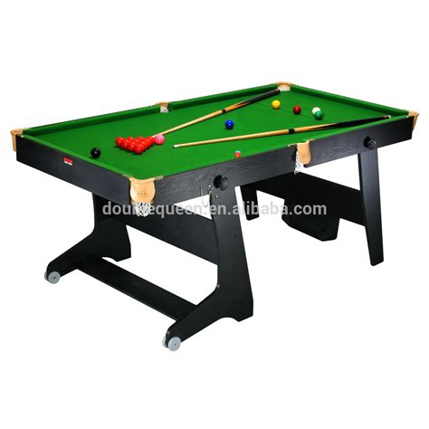 folding pool table 7ft 6ft folding pool table billard table with green cloth