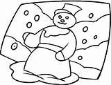 Snow Coloring Pages sketch template
