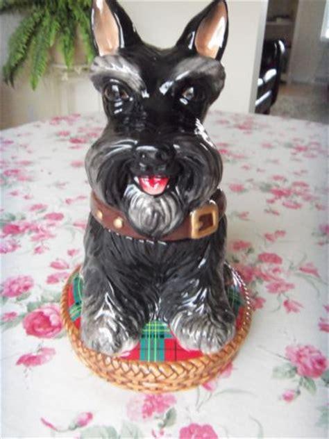 rare jeffrey banks scottie dog scottish terrier cookie jar