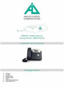 Yealink Sip T21p User Manual