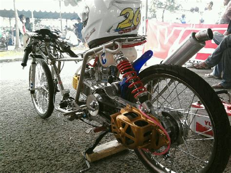 fandy dunia motor modifikasi drag style