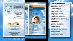 funeral ceremony program heavenly funeral program obituary