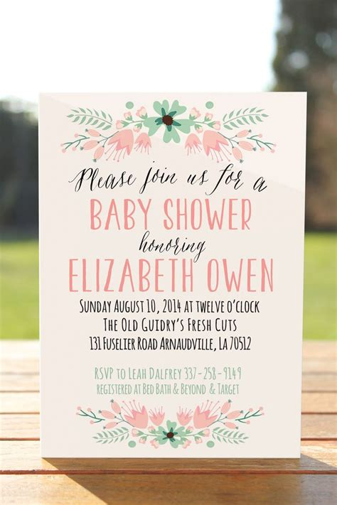 Baby Shower Invite Ideas - best 25 invitations baby showers ideas on