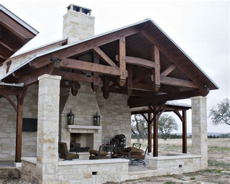 outdoor living with a fireplace stunning timber