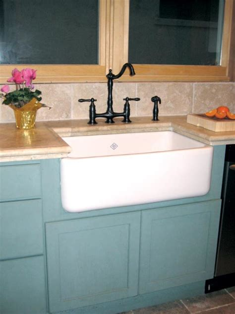 Farm Sink Cabinet by Adventures In Installing A Kitchen Sink House