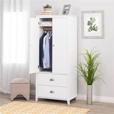 White Wardrobe Armoire by Prepac Yaletown Wardrobe Armoire In White Wabh 1205 2k