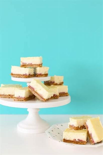 Vanilla Cheesecake Bars Strawberry Bean Easy Lovelyindeed