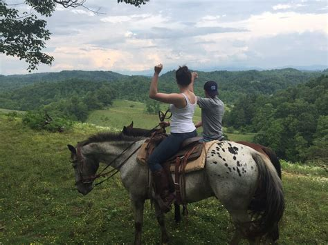 farm nc trail asheville rides mountain smoky bison smokey riding horseback near browse
