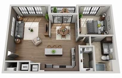 Floor Plans Plan 2d Appartement Architectural Rendering