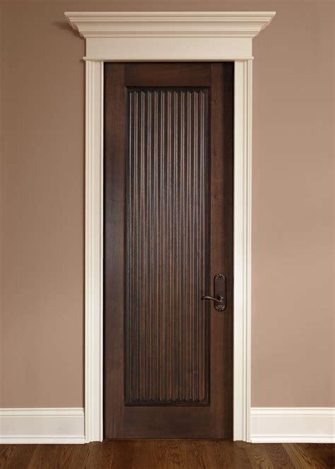 interior door custom single solid wood  dark