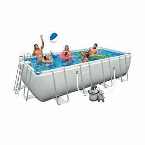 Piscine Hors Sol Rectangulaire Intex : intex ultra frame kit piscine rectangulaire tubulaire 4 57x2 74x1 22 m achat vente piscine ~ Melissatoandfro.com Idées de Décoration