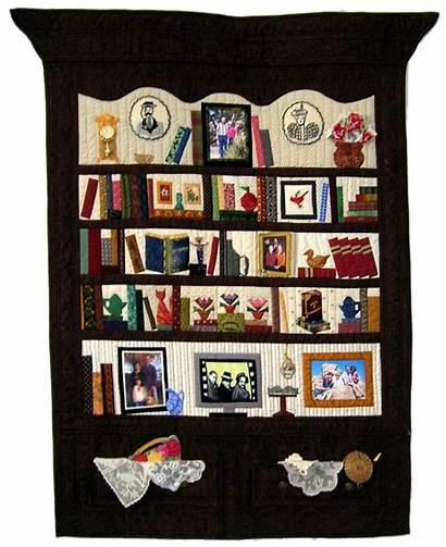 Quilt Bookcase Pattern Quilts Bookshelf Memory Patterns