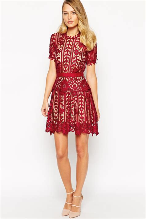 2015 Spring New Dress Fashion Designed Short Dress Free Shipping Self Portrait Lace A Line Dress ...