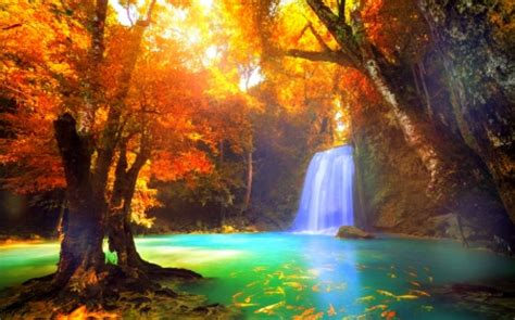 Cool Waterfall Background by Cool Waterfall Waterfalls Nature Background
