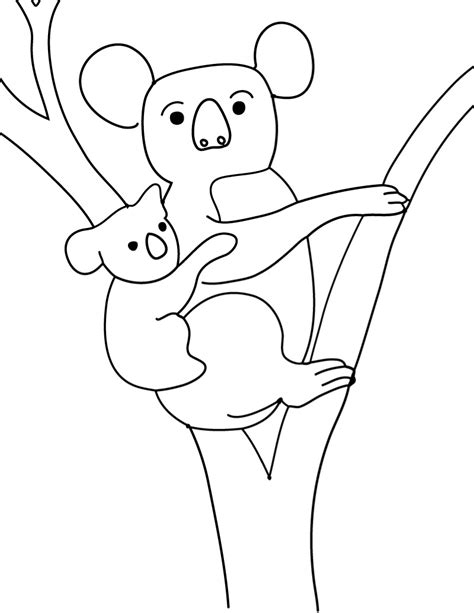 Coloring Templates Printable by Free Printable Koala Coloring Pages For Animal Place