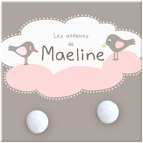 porte manteau chambre fille petit portemanteau oiseaux et nuage pour bébé fille