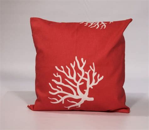 Decorative Pillow Cover by Decorative Pillow Cover 18x18 Coral Throw Pillow By