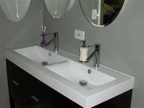 Undermount Double Faucet Trough Sink