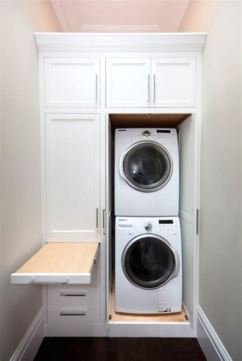 pull out ironing board transitional laundry room